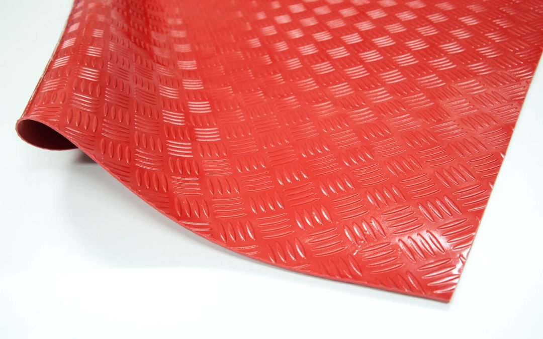 Wykładzina checker SCP rolka 3 x 1200 x 10000 mm PVC czerwony