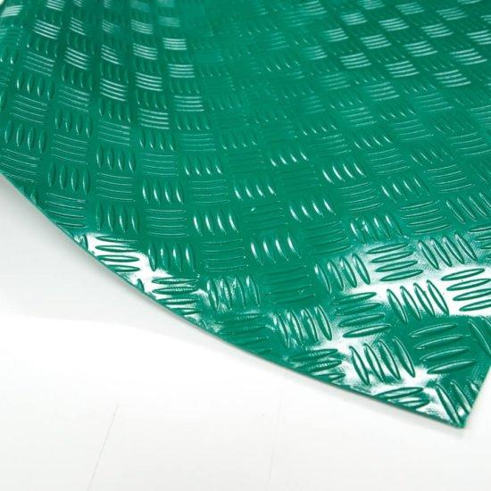 wykładzina checker pvc pcv zielona scp