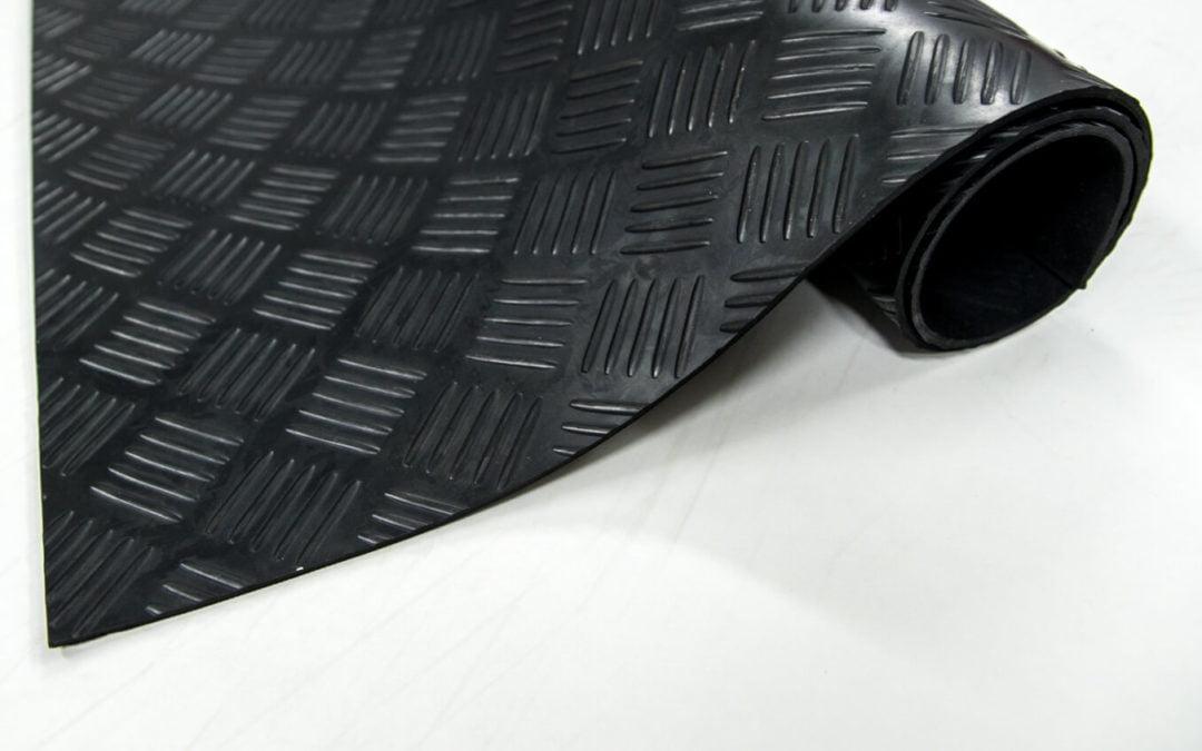 Wykładzina gumowa checker SCP 3 mm NBR olejoodporna szerokość 1,2m