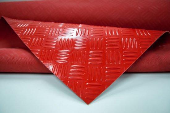 wykładzina checker czerwony SCP PVC