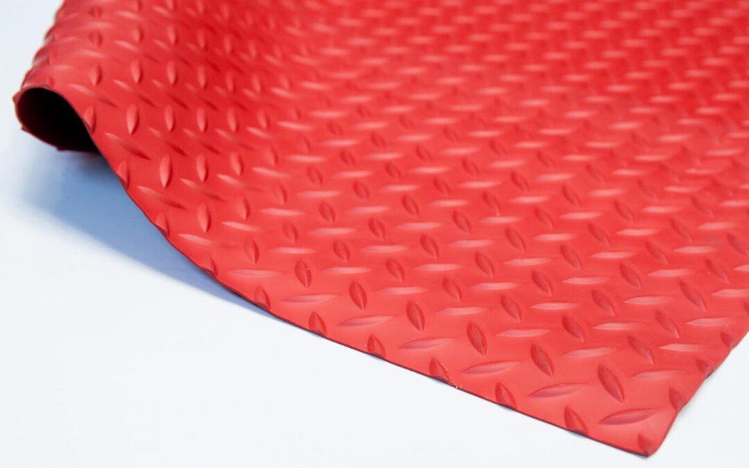 Wykładzina gumowa czerwony młotek SCP 3 mm TPE szerokość 1,2 m