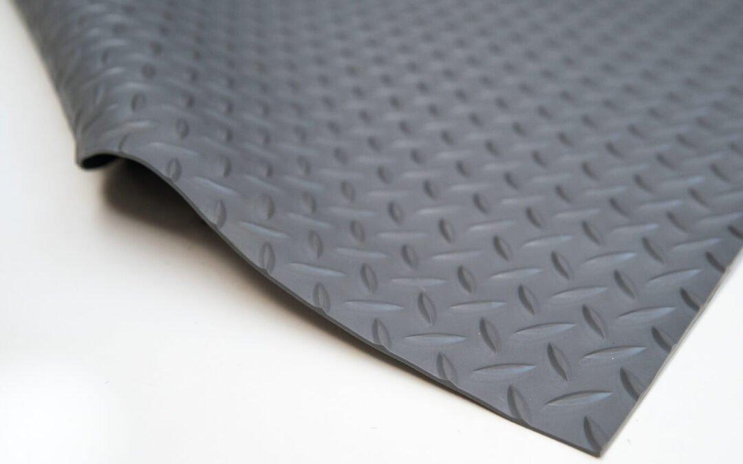 Wykładzina gumowa szary młotek SCP 3 mm TPE szerokość 1,2 m